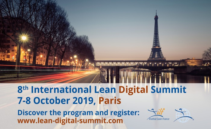 Rendez-vous au Lean Digital Summit de l'Institut Lean France les 7 et 8 octobre