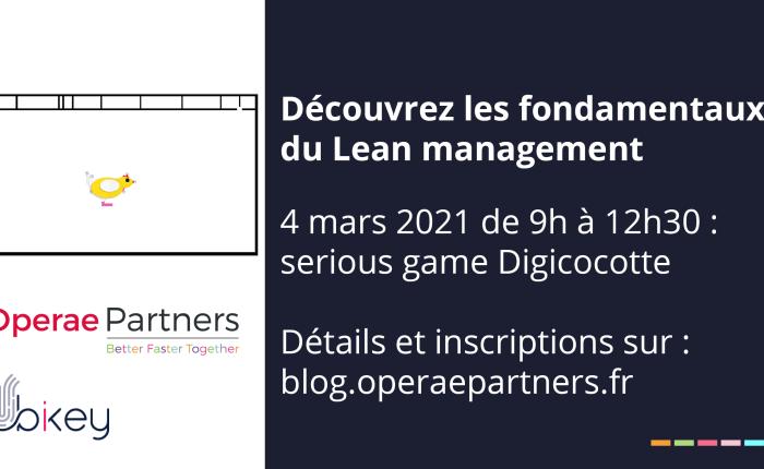 Serious game d'initiation au Lean à distance : rendez-vous le 4 mars2021
